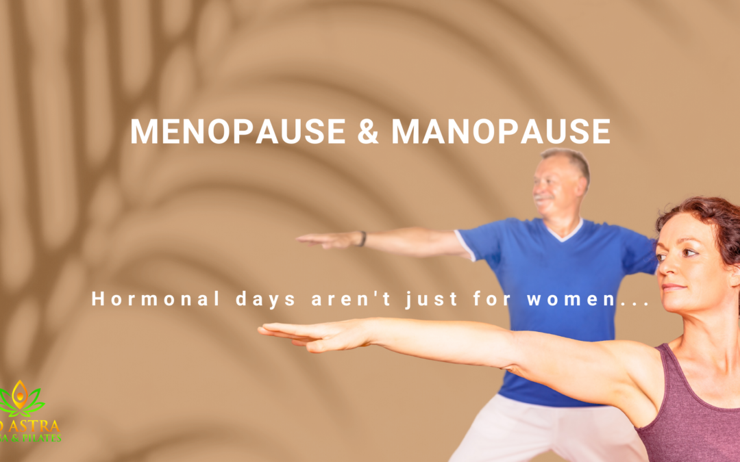 menopause & manapause. Hormonal days aren't just for women